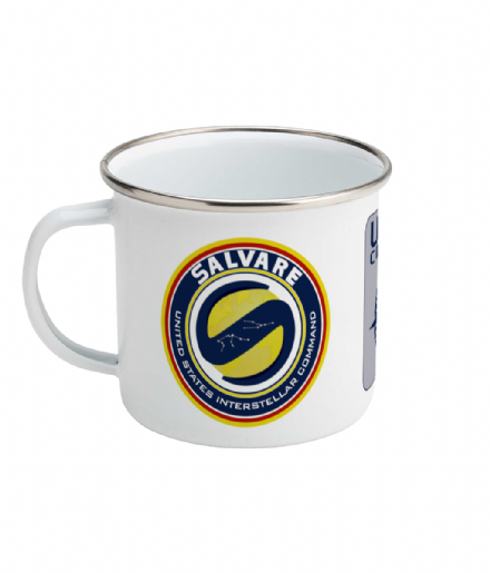The Salvare Ship United States Interstellar Command Enamel Mug from Another Life